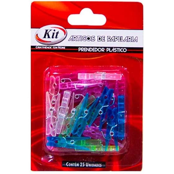 PRENDEDOR PLASTICO MINI  C/25UN REF. AUC5005 - KIT