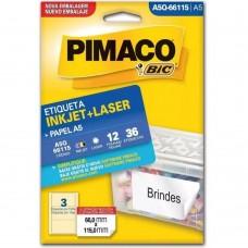 ETIQ. BR. 12F. A5 INKJET+LASER A5Q-66115 - PIMACO