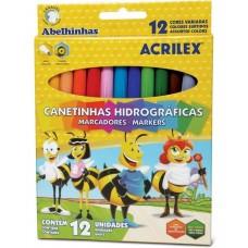 CANETINHA HIDROGRAFICA SUPER COR C/12 - ACRILEX