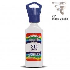DIMENS. METALICA 35ML BRANCA - ACRILEX
