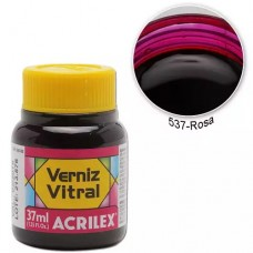 VERNIZ VITRAL 37ML ROSA 537 - ACRILEX
