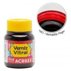 VERNIZ VITRAL 37ML VERM. FOGO 507 - ACRILEX