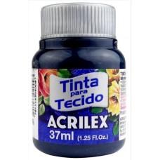TINTA P/ TECIDO FOSCA 37ML AZ. PETROL. 596 - ACRIL