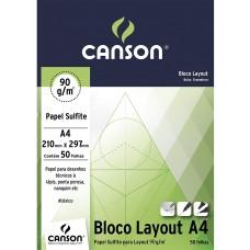 BLOCO LAYOUT TECNICO A4 BR. 90G. 50F. 210MM X 297MM - CANSON