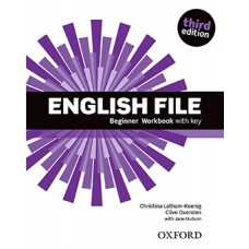 ENGLISH FILE BEGINNER WORKBOOK  WITH  KEY - ED. OXFORD