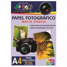 PAPEL FOTOGRAFICO MATTE FOSCO A4 108G. 100F. - OFF PAPER