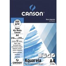 BLOCO AQUARELA A4 12 FLS 300G 210MM X 297MM  - CANSON