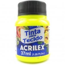TINTA P/ TECIDO FLUOR. 37ML. 102 AMARELO - ACRILEX