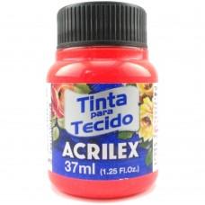 TINTA P/ TECIDO FLUOR. 37ML. VERMELHO 103 - ACRILEX