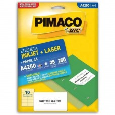 ETIQ. BR. 25F. A4 INKJET+LASER - PIMACO