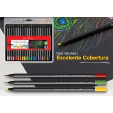 ESTOJO ECOLAPIS DE COR SUPERSOFT C/24 CORES SOFT FABER