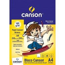 BLOCO DESENHO BRANCO INFANTIL A4 20FLS 140GM2 - CANSON