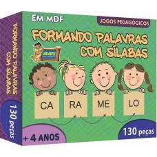 JOGO FORMANDO PALAVRAS C/ SILABAS 130 PC COD 3848 - URIARTE
