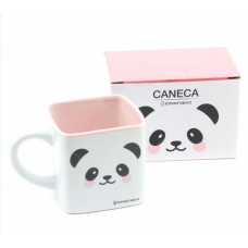 CANECA CUBO 300ML PANDA 10023348 - ZONA CRIATIVA
