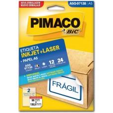 ETIQ. BR. INKJET+LASER 98X138,5 C/24 - PIMACO